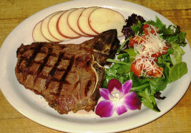 Your healthy food list, should contain high protein foods, like this natural T-bone