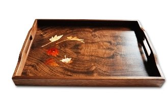 vegetable tray - exotic walnut