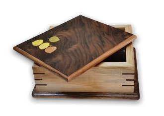 wooden storage boxes, oak cherry maple walnut